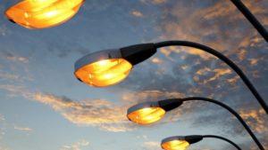 Новые столбы освещения дорог московской области