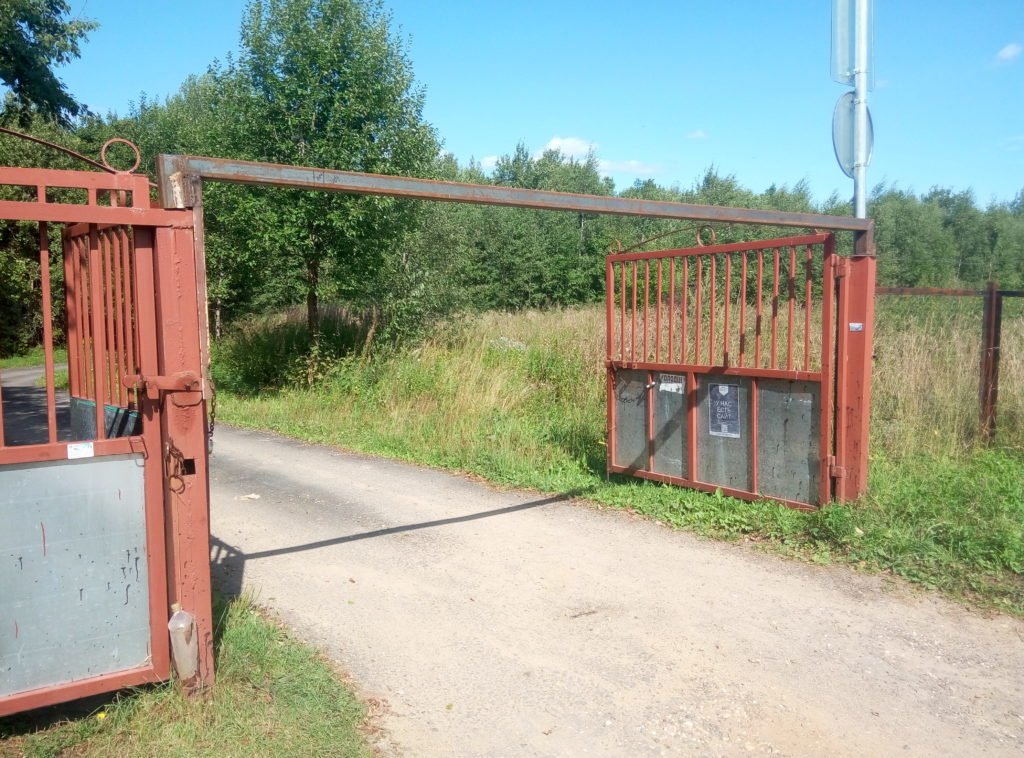 Ограничение высоты на въезде Березка-4