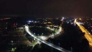 Дорога в ночное время