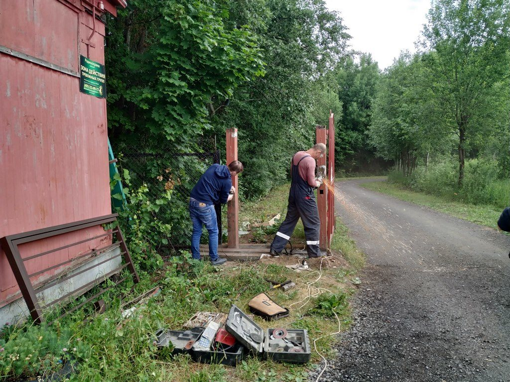 Новые ворота СНТ Березка-4