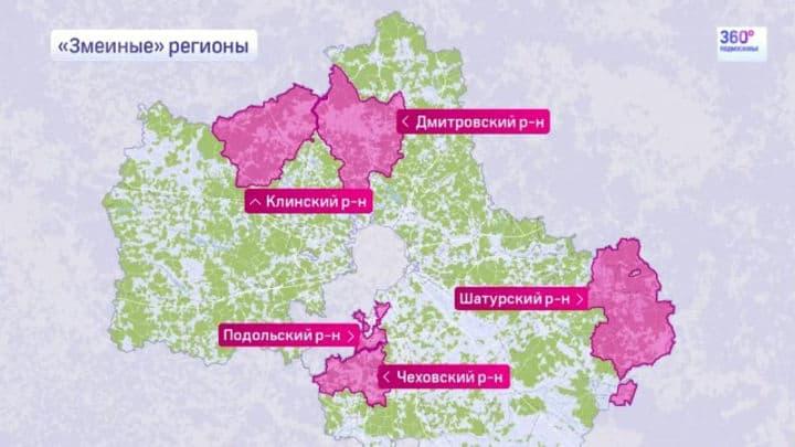 Змеи в Московской области