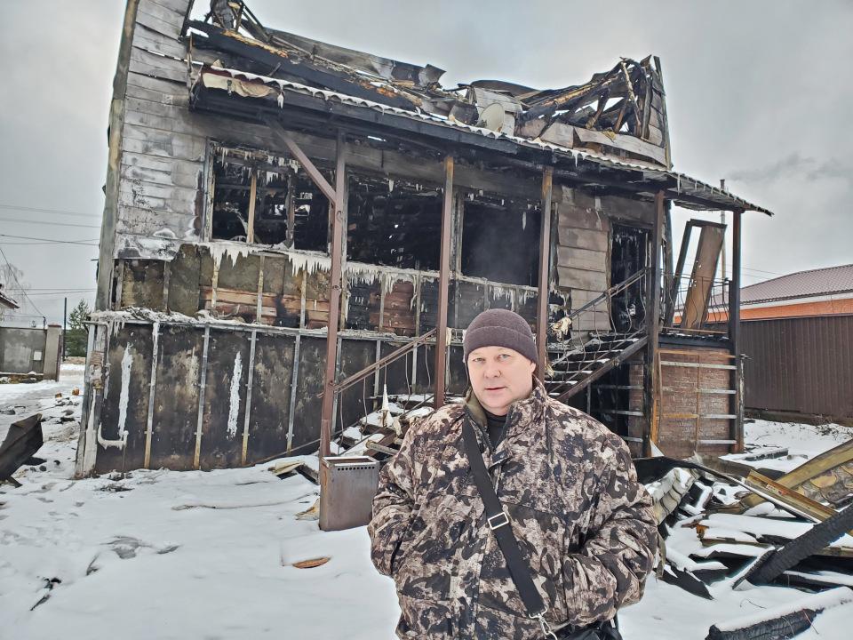 Пожар в Бужаниново 16 ноября. Строителей 6